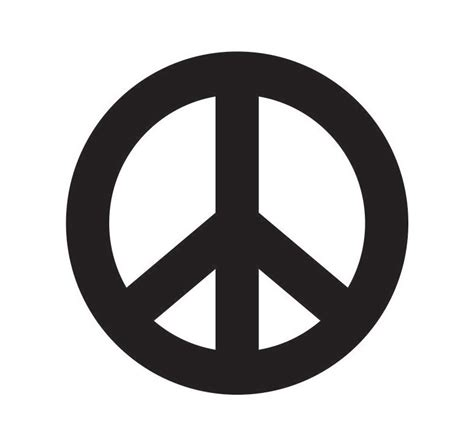 Printable Peace Sign Template Clipart Best Peace Sign Template