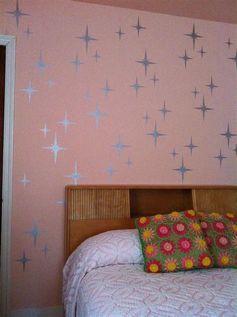 bedroom wall stencils retro wall stencils patterns and tips from 7 reader