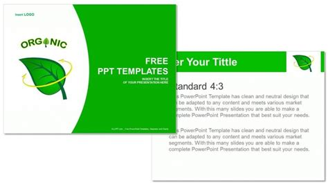 Organic Powerpoint Theme Download Professional Powerpoint Eco Friendly Ppt Templates Free