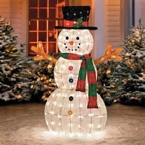 yard decorations for sale buy sale 48 quot outdoor lighted pre lit snowman sculpture