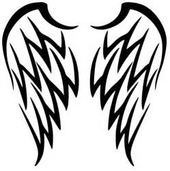 tribal angel wings tattoo design