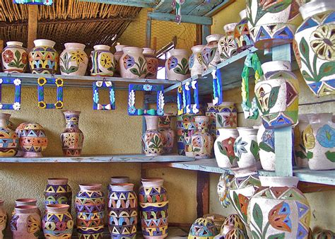 Shopping In The Best Pottery In Town by A Oaxaca Pottery Shop Photograph By Michael Peychich