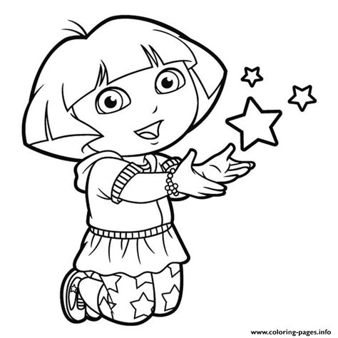 dora star coloring pages dora stars happy coloring pages printable