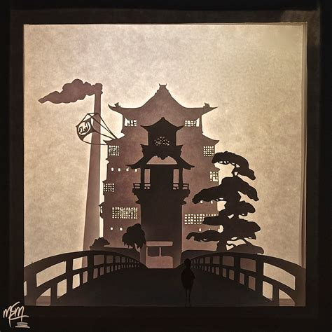 Spirited Away Papercraft - spirited away bathhouse paper lightbox tutorial by