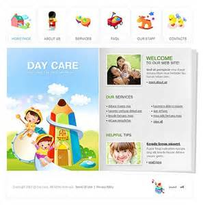 template 14470 day care center flash website template