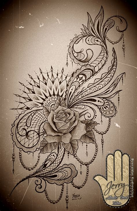 tattoo idea designs feminine rose mandala tattoo idea