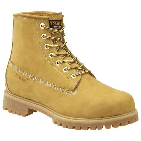 carolina steel toe work boots s carolina 6 quot steel toe waterproof work boots wheat