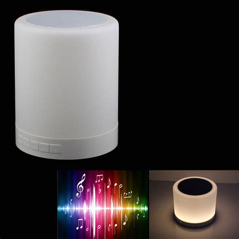 1 6w warm white light led touch lamp bluetooth speaker