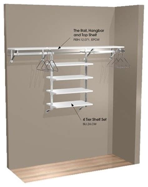 Closet Wall Shelves Arrange A Space 71 In Single Hang Wall Closet With
