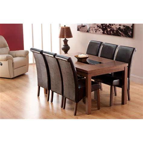 Nevada Dining Table And Chairs Nevada Dining Table And 6 Black Dining Chairs 15555