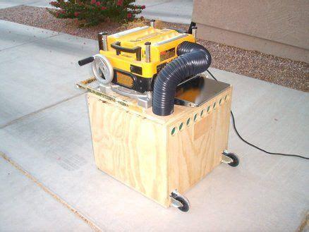 planer cart chip collector woodshop dust pinterest