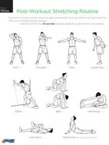 post workout routine work it out