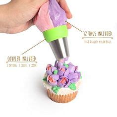 How To Make Icing Bags Out Of Greaseproof Paper - 8 icing tips set coupler pastry bag for
