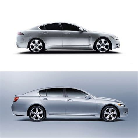 lexus xf lexus gs vs jaguar xf a visual comparison lexus enthusiast