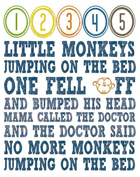 no more monkeys jumping on the bed song instant digital download no more monkeys jumping on the