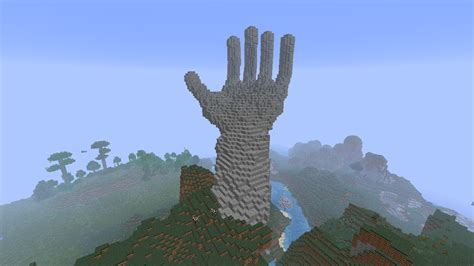 minecraft house ideas minecraft building ideas giant hand