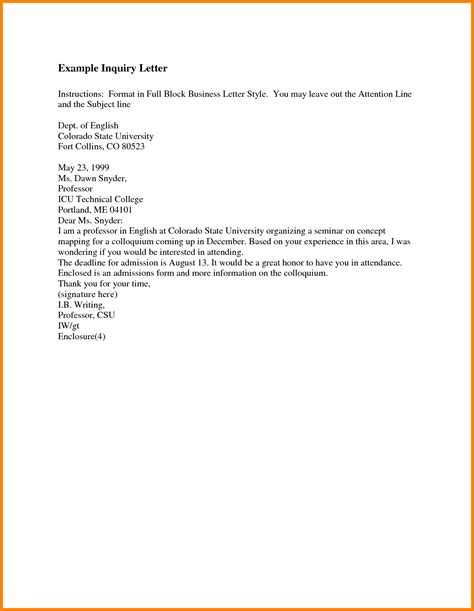 Business Letter Template Attention 3 letter address format attn ledger paper