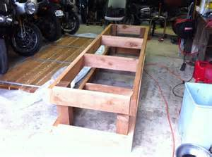 Motorcycle work bench plans the kind you put your motorcycle on there