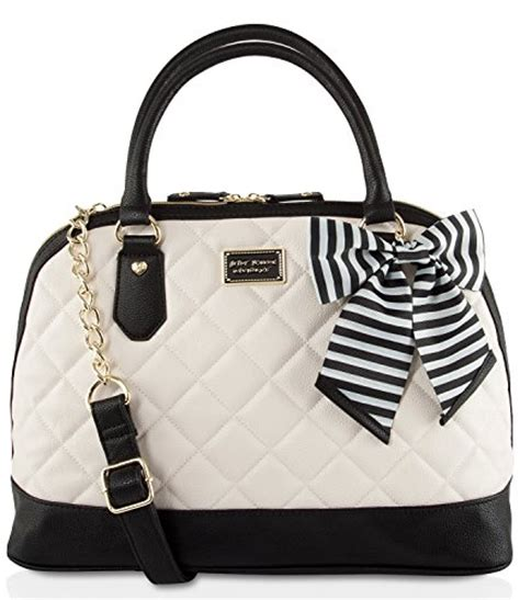 Betsey Johnson Handbag Quilted Satchel by Betsey Johnson Large Quilted Dome Satchel Bag