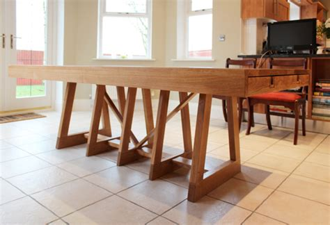 Handcrafted Furniture Uk - isosceles dining table hugh miller