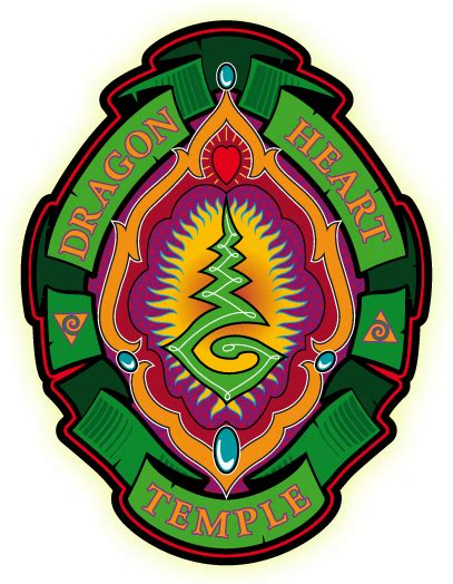tattoo temple logo home dragon heart temple