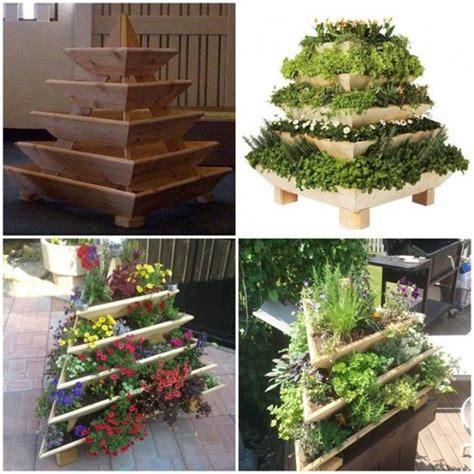 diy garden planters diy vertical garden pyramid planter beesdiy