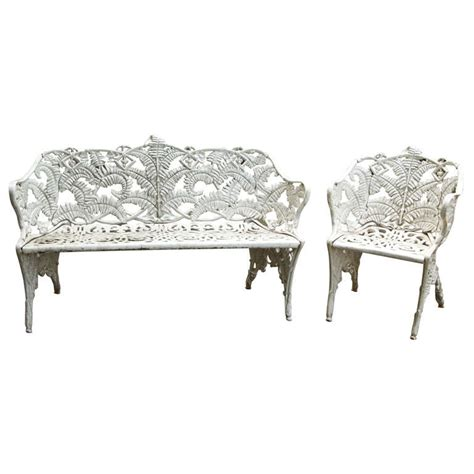 cast iron benches for sale set of two cast iron benches for sale at 1stdibs