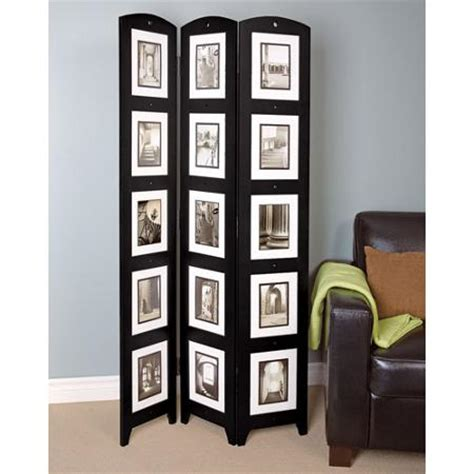 photo room divider panel black photo screen room divider holds 15 photos 33 quot x 64 5 quot