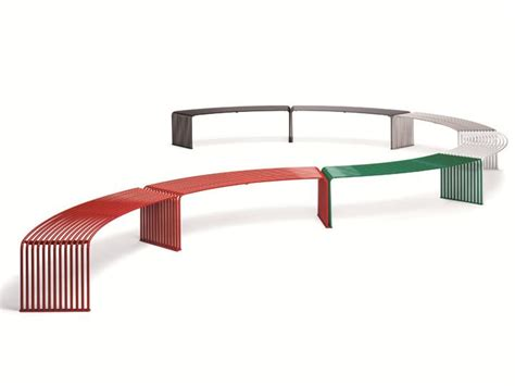 curved metal bench zeroquindici 015 curved bench by diemmebi design basaglia
