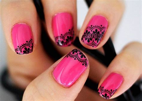pattern nails lace nails nail designs picture