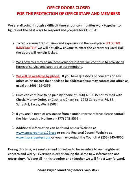 important notice  read  sps carpenters