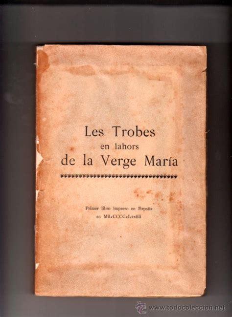 libro on the verge of les trobes en lahors de la verge mar 237 a primer l comprar libros antiguos de religi 243 n en