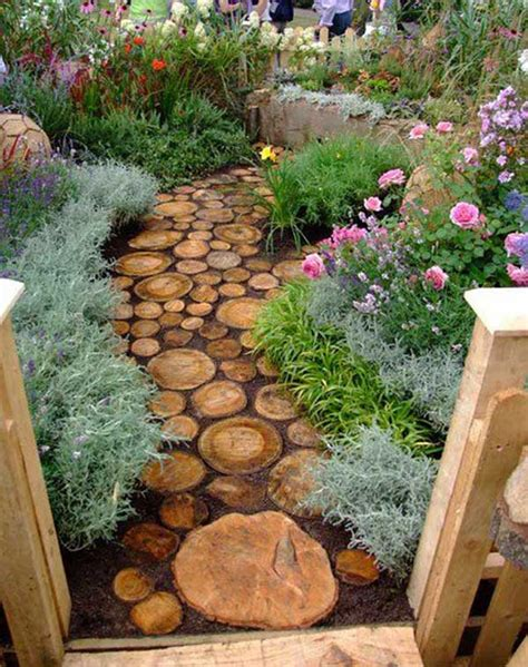 fab diy log home garden decor ideas