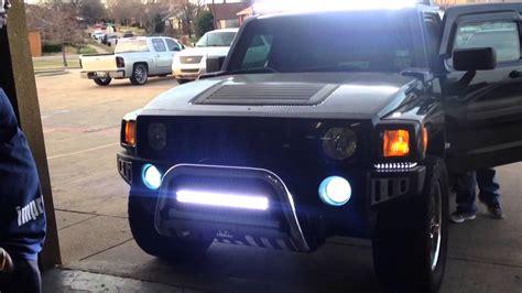 hummer h3 light bar auto impressions hummer h3 led bars top amd bottom