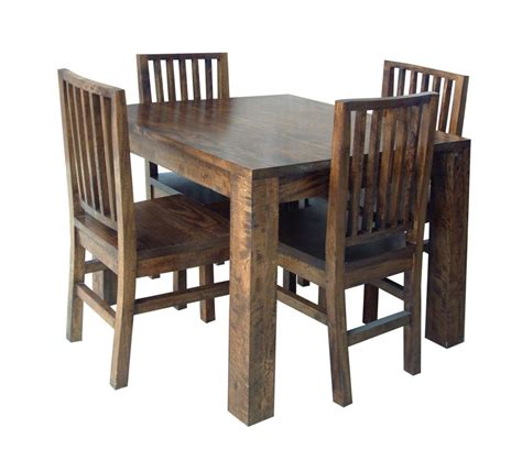 table and four chairs wooden card table dining tables mango wood hton