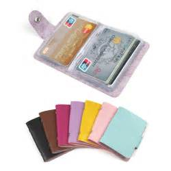 business card holder organizer fashion 24 bits useful business credit card holder pu leather buckle cards holders organizer