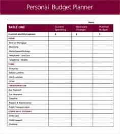 Template For Personal Budget by Sle Personal Budget Documents In Pdf Word Excel