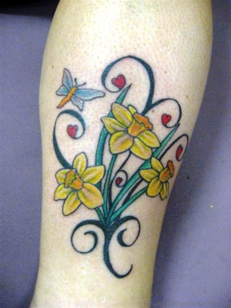 daffodil flower tattoo designs 94 dazzling daffodil flower tattoos