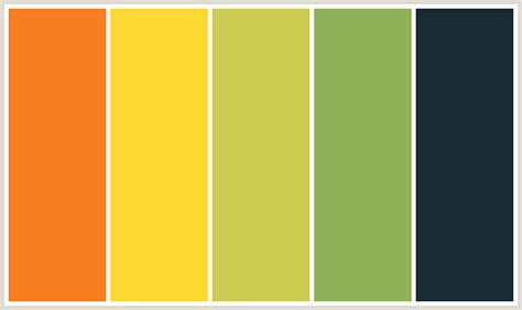 yellow color combinations colorcombo379 with hex colors f57e20 fed833 cccc51