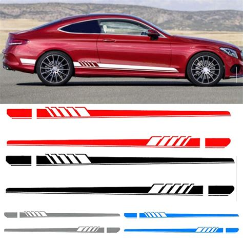 C Car Sticker 2x car side stickers decals sticker stripes for