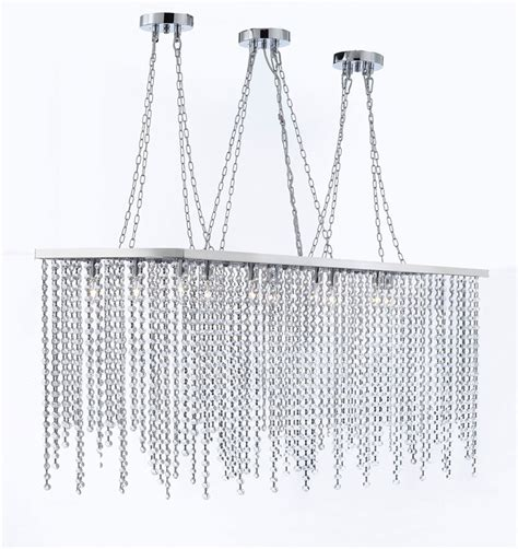 Rectangular Dining Chandelier 10 Light Modern Contemporary Dining Room Chandelier Rectangular Chandeliers Ls
