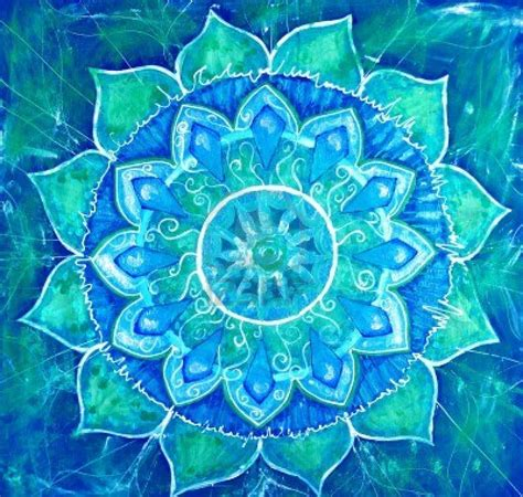 blue mandala pattern 9407649 abstract blue painted picture with circle pattern