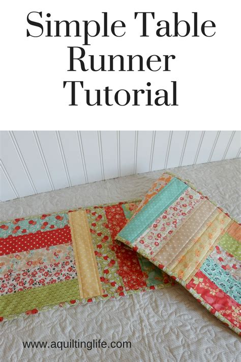 tutorial html simple simple table runner tutorial a quilting life a quilt