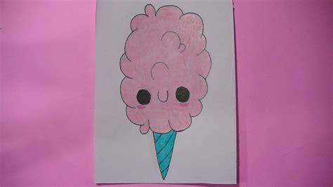 imagenes kawaii de comida para dibujar como dibujar pintar algodon de azucar kawaii semana