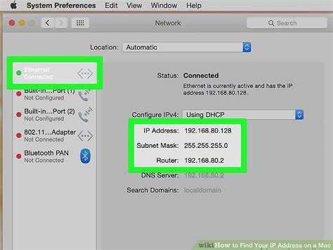 Ip To Mac Address Finder 4 Ways To Find Your Ip Address On A Mac Wikihow