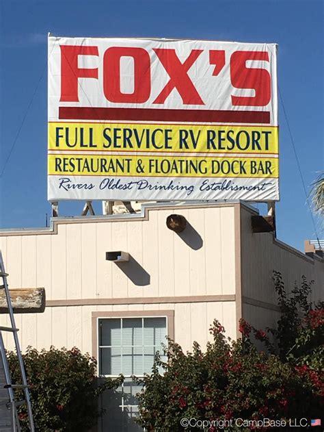 boat storage in parker az foxs rv park resort parker arizona