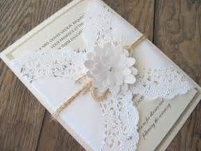 shabby chic wedding invitations shabby chic lace doily flower wedding invitation invite