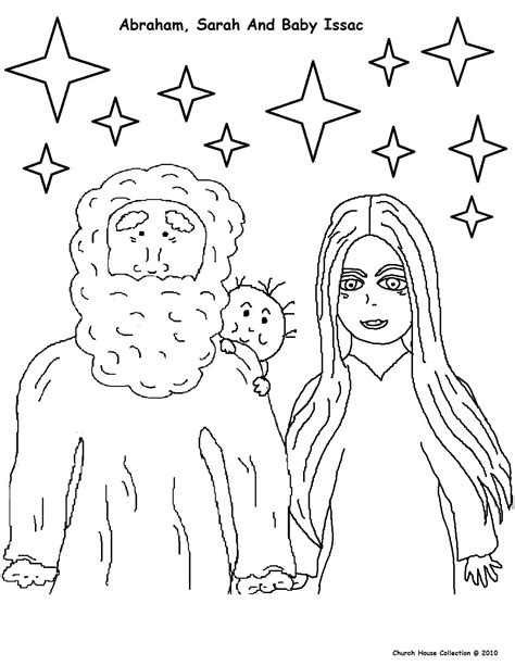 abraham sarah and isaac coloring pages images