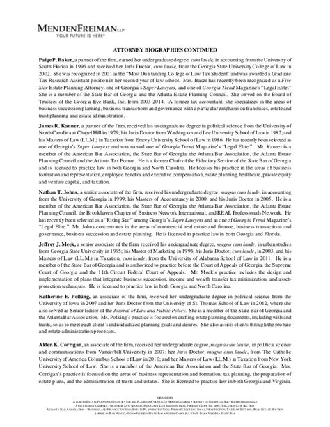 mendenfreiman firm resume