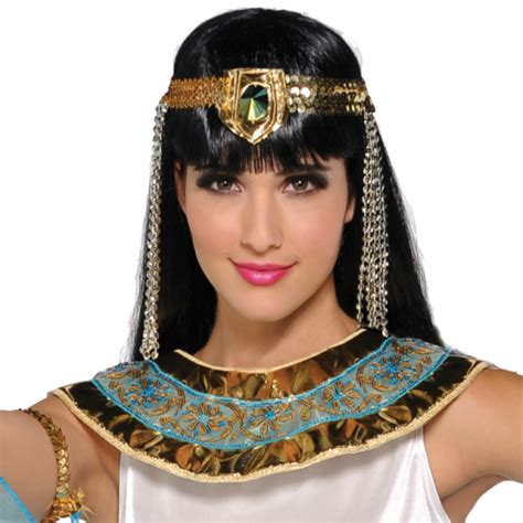 Gamis Cleopatra Embroidery Adults Cleopatra Costume Size 8 10 1 Pc Amscan